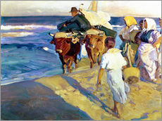 Gallery print  Towing in the boat, Valencia - Joaquin Sorolla y Bastida