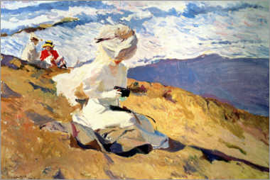 Acrylic print  Capturing the moment - Joaquín Sorolla y Bastida