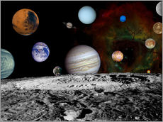 Gallery print  Montage of the planets