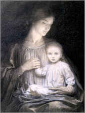 Gallery print  Mother and Child, c.1920 - Sir Frank Dicksee