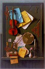 Gallery print  The Old Cupboard Door - William Michael Harnett