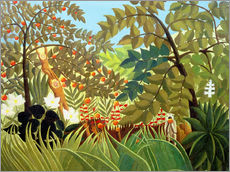 Wall sticker  Exotic landscape - Henri Rousseau