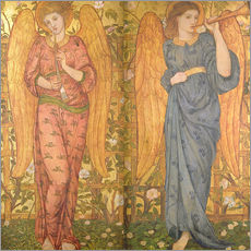 Gallery print  Angels with an oboe and a trumpet, 1861-62 - John Roddam Spencer Stanhope