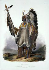 Gallery print  Mato-Tope, chief of the Mandan - Karl Bodmer