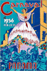 Wall sticker  Carnaval Panama 1936 - Travel Collection