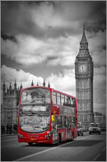 Wall sticker  LONDON Red Bus and Big Ben - Melanie Viola