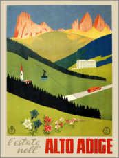 Gallery print  Alto Adige vintage newspaper, South Tyrol, Italy - Travel Collection