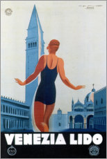 Premium poster  On the beach of Venice, Italy - Travel Collection
