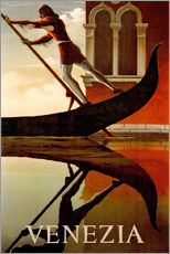 Gallery print  Italy - Venice gondolier - Travel Collection