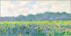 Wall sticker  Field of Yellow Irises in Giverny - Claude Monet