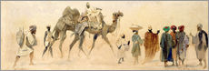 Wall sticker  Departure to the desert, 1858 - Carl Haag