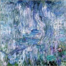 Premium poster Waterlilies and Reflections of a Willow Tree, 1916-19