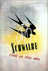 Wall sticker  Bicycles - Schwalbe, cest un chic velo - Advertising Collection