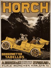 Wall sticker  Horch cars - Golly impeccable - Advertising Collection