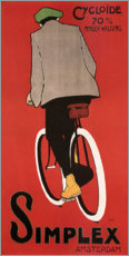 Premium poster Bicycles from Amsterdam (Dutch)