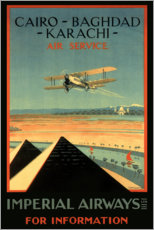Wall sticker  Imperial Airways - Cairo to Karachi - Travel Collection