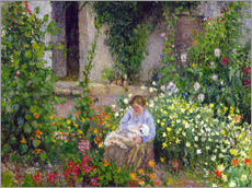 Gallery print  Mother and Child in the Flowers - Camille Pissarro