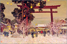 Gallery print  View of Shinto Shrine, c.1889 - Sir Alfred East