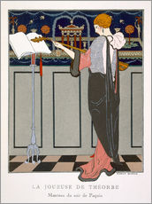 Wall sticker  The Theorbo Player, 1920s - Georges Barbier