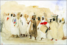 Gallery print  Procession of Musicians in Tangier - Eugene Delacroix