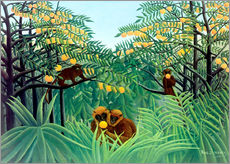 Wall sticker  Apes in the orange grove - Henri Rousseau