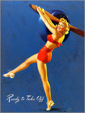 Gallery print  Pin Up - Ready to Take Off - Al Buell