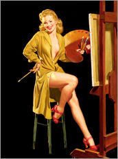 Gallery print  Pin up with a color palette - Al Buell