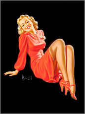 Gallery print  Pin Up - Lady in Red Dress - Al Buell