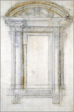 Gallery print  Study of a window - Michelangelo