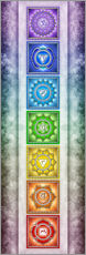 Wall sticker  The Seven Chakras - Series II -Artwork II - Dirk Czarnota