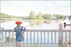 Wall sticker  Lisbeth angling - Carl Larsson