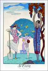 Wall sticker  The earth, 1925 - Georges Barbier