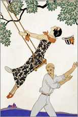 Gallery Print  The Swing, 1920s - Georges Barbier