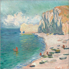 Wall sticker  Cliff at Etretat - Claude Monet