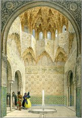 Gallery print  The Hall of the Abencerrages, the Alhambra, Granada, 1853 - Léon Auguste Asselineau