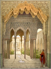Gallery print  The Court of the Lions, the Alhambra, Granada, 1853 - Léon Auguste Asselineau