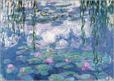Foam board print  Water Lilies - Claude Monet