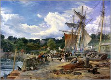 Gallery print  At the pier, Aberdour, Firth of Forth, 1865 - Samuel Bough