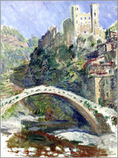Wall Stickers  Castle of Dolceacqua - Claude Monet