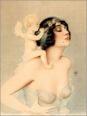 Wall sticker  Girl with Angel - Alberto Vargas