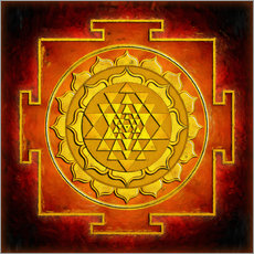 Wall sticker  Sri yantra - warmth - Dirk Czarnota