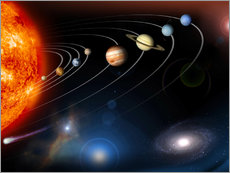 Gallery print  Our solar system - Stocktrek Images