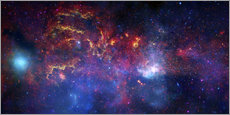 Wall sticker central region of the Milky Way galaxy