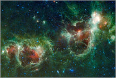 Wall sticker Infrared mosaic of the Heart and Soul nebula