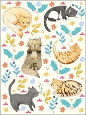 Wall sticker  Cat family II - Judith Loske