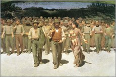 Gallery print  The fourth estate - Giuseppe Pellizza da Volpedo