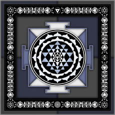 Wall sticker  Sri Yantra - Artwork II - Dirk Czarnota