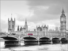 Gallery print  Westminster bridge with look at Big Ben and House of parliament - Edith Albuschat