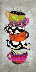 Wall sticker  Stacked Hot Cuppa Collection 1 - Megan Duncanson
