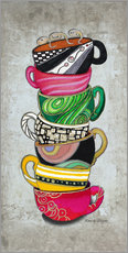 Wall sticker  Stacked Hot Cuppa Collection 2 - Megan Duncanson